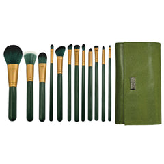 Guilty Pleasures... Envy™ – 12-piece Brush Wrap Kit - makeup brushes lined up side-by-side next to brush wrap