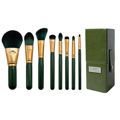 Guilty Pleasures... Envy™ – 8-piece Travel Brush Kit - makeup brushes lined up side-by-side next to brush kit box
