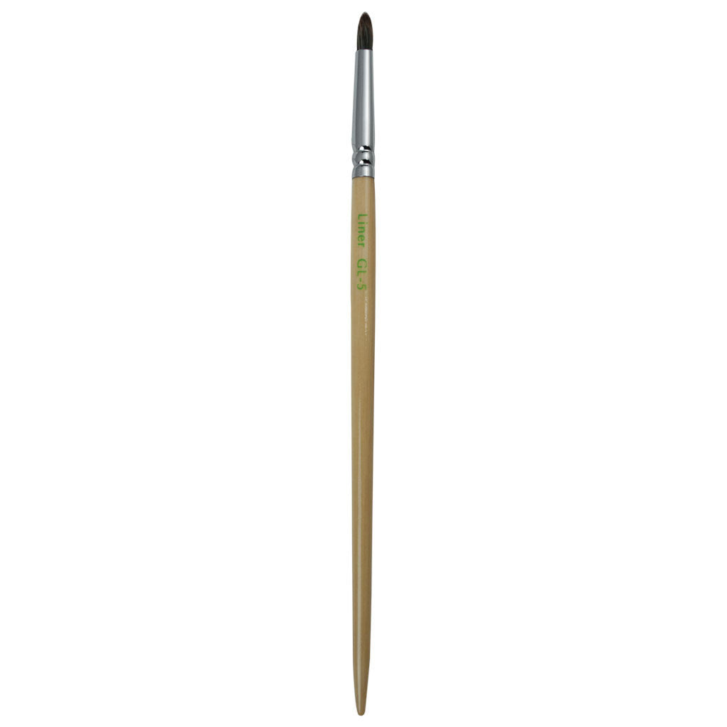 Full view of S.I.L.K GreenLine™ Liner makeup brush facing upward