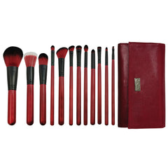 Guilty Pleasures... Lust™ – 12-piece Brush Wrap Kit - makeup brushes lined up side-by-side next to brush wrap