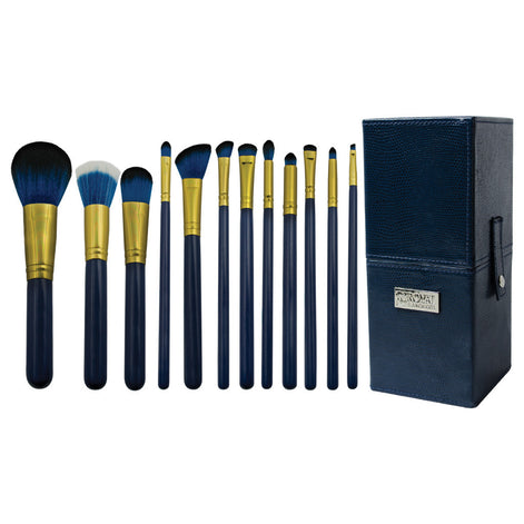 Guilty Pleasures... Pride™ – 12-piece Brush Kit - makeup brushes lined up side-by-side next to brush kit box