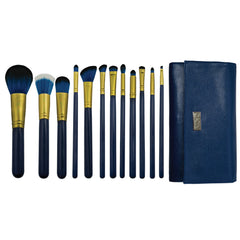 Guilty Pleasures... Pride™ – 12-piece Brush Wrap Kit - makeup brushes lined up side-by-side next to brush wrap
