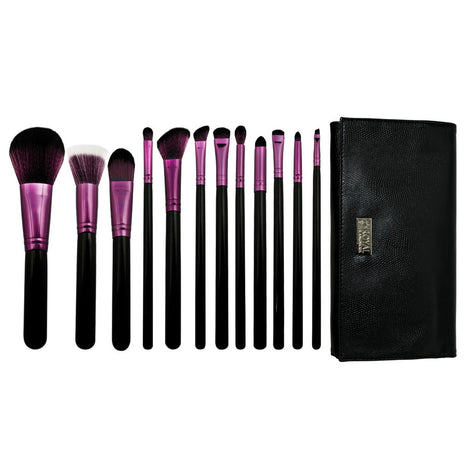 Guilty Pleasures... Wrath™ – 12-piece Brush Wrap Kit - makeup brushes lined up side-by-side next to brush wrap