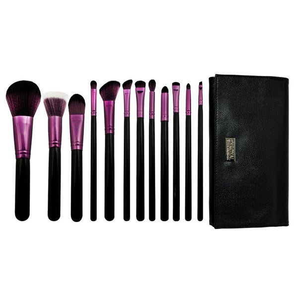 Guilty Pleasures... Wrath™ – 13pc Brush Wrap Kit Guilty Pleasures... Wrath™ – 12-piece Brush Wrap Kit - makeup brushes lined up side-by-side next to brush wrap