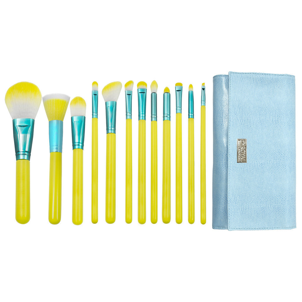 Love Is... Hopeful™ – 12-piece Wrap Kit - makeup brushes lined up side-by-side next to brush wrap