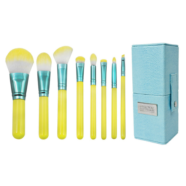 Love Is... Hopeful™ – 8-piece Travel Kit - makeup brushes lined up side-by-side next to travel kit box