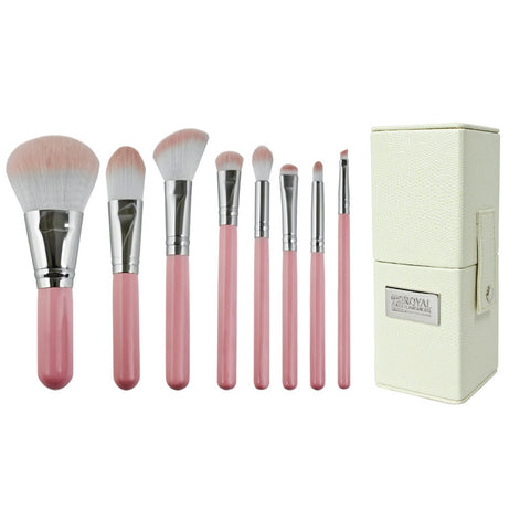 Love Is... Kindness™ – 8-piece Travel Kit - makeup brushes lined up side-by-side next to travel kit box