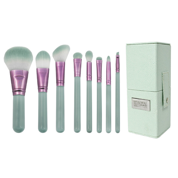 Love Is... Patience™ – 9pc Travel Brush Kit Love Is... Patience™ – 8-piece Travel Kit - makeup brushes lined up side-by-side next to travel kit box
