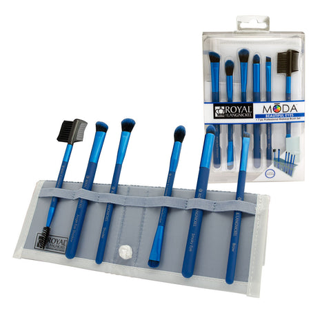 BMD-BESET7BL - MŌDA® BEAUTIFUL EYES 7pc Blue Brush Kit
