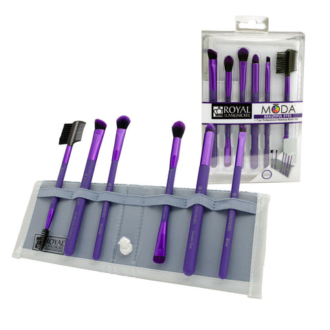 BMD-BESET7PU - MŌDA® BEAUTIFUL EYES 7pc Purple Brush Kit