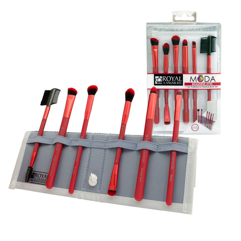 BMD-BESET7RD - MŌDA® BEAUTIFUL EYES 7pc Red Brush Kit