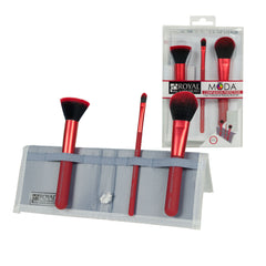MODA® COMPLEXION PERFECTION 4pc Red Brush Kit