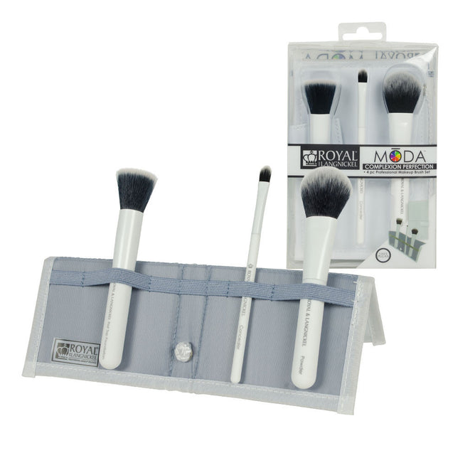 BMD-CPSET4WH - MŌDA® COMPLEXION PERFECTION 4pc White Brush Kit