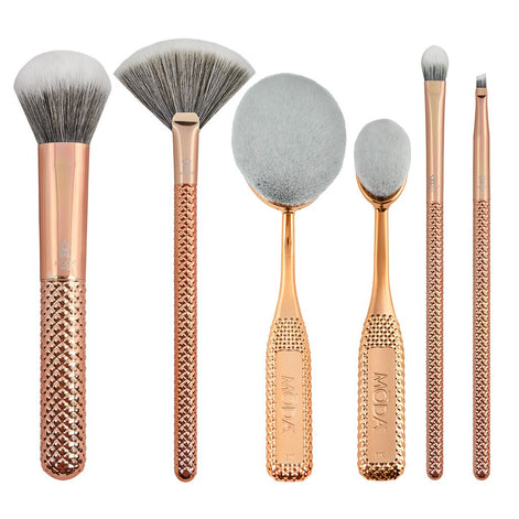 BMD-MGS2 - MODA® Metallics 6pc Deluxe Gift Kit Makeup Brushes