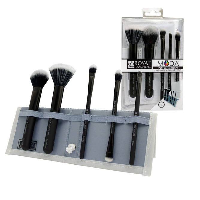 BMD-PMSET6BK - MŌDA® PERFECT MINERAL 6pc Black Brush Kit