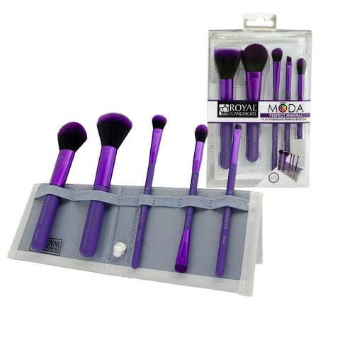 BMD-PMSET6PU - MŌDA® PERFECT MINERAL 6pc Purple Brush Kit
