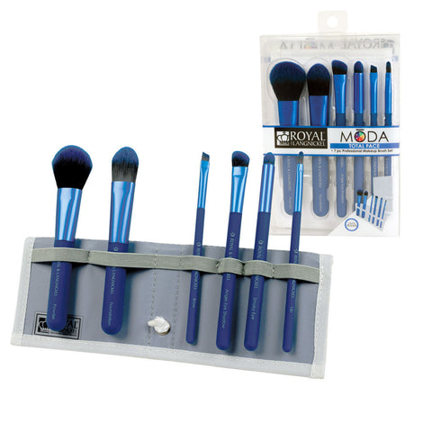 BMD-TFSET7BL - MŌDA® TOTAL FACE 7pc Blue Brush Kit