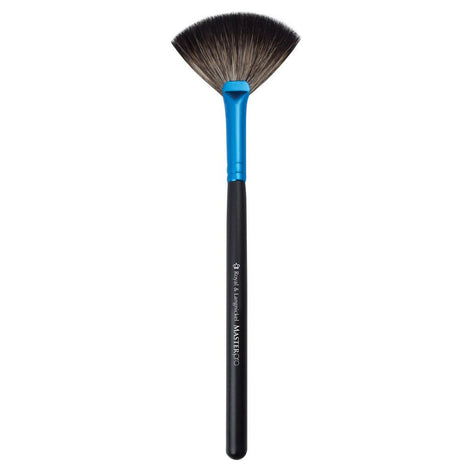 Full view of Master Pro™ Finishing Fan makeup brush facing left