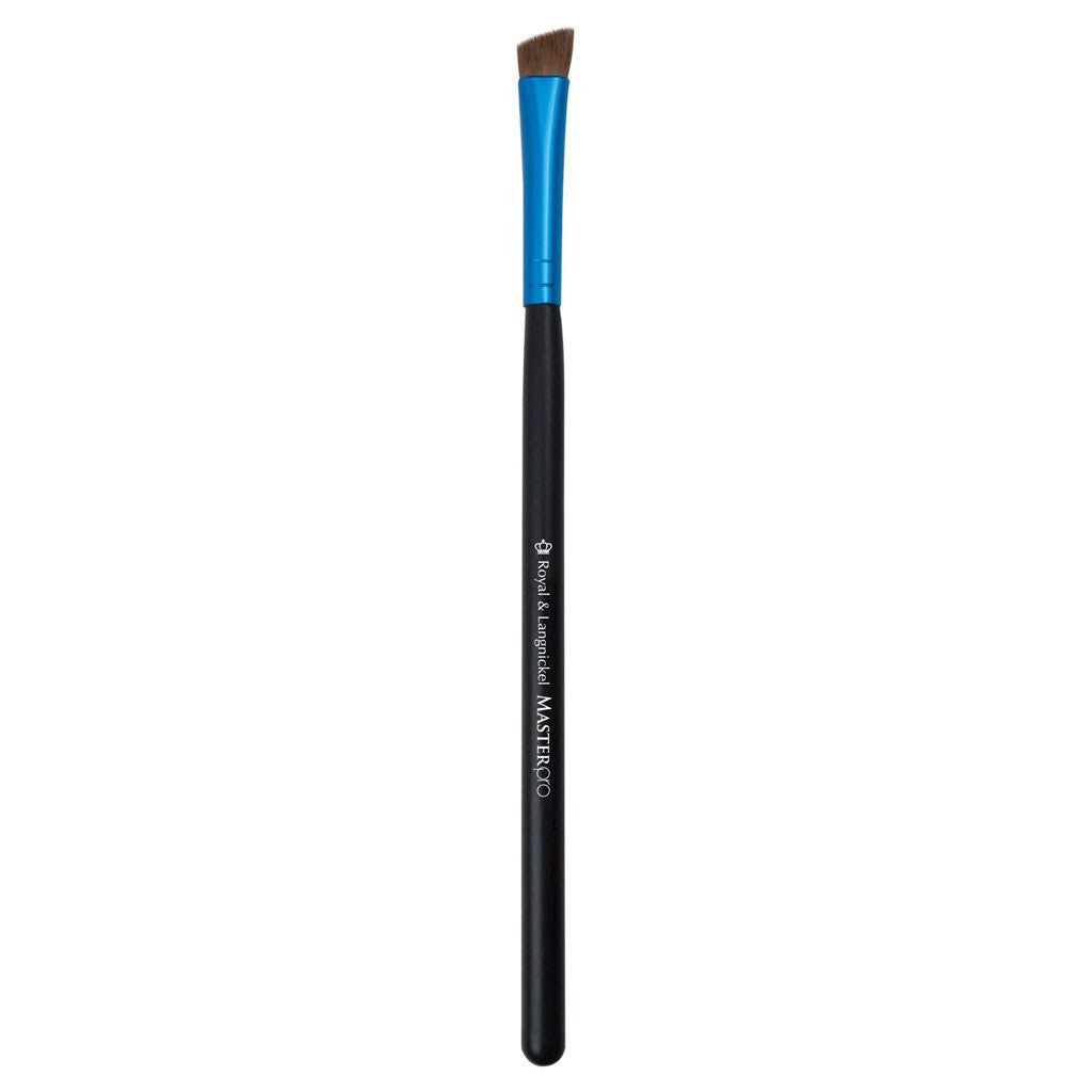 Full view of Master Pro™ Angled Eyeliner/Brow makeup brush facing left