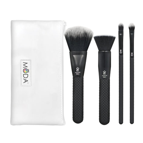 BMX-CK5 - MODA® Pro 5pc Complete Kit Makeup Brushes with Zip Case