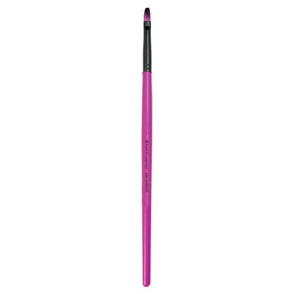 Full view of Pink Essentials™ Lip makeup brush facing left