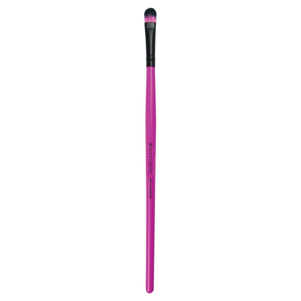 Full view of Pink Essentials™ Concealer makeup brush facing left