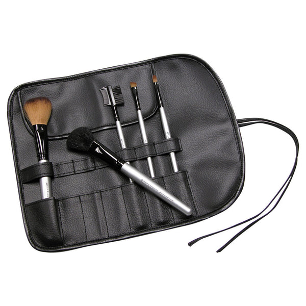 Black 7-Pocket Brush Wrap Black 7-Pocket Brush Wrap glamour shot with brushes (not included)