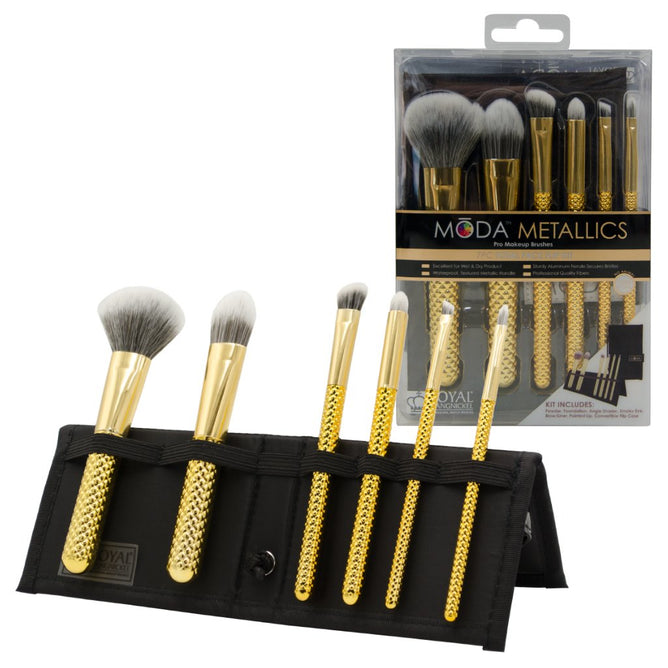 MSET-TF7GD - MŌDA® Metallics 7pc Gold Total Face Kit