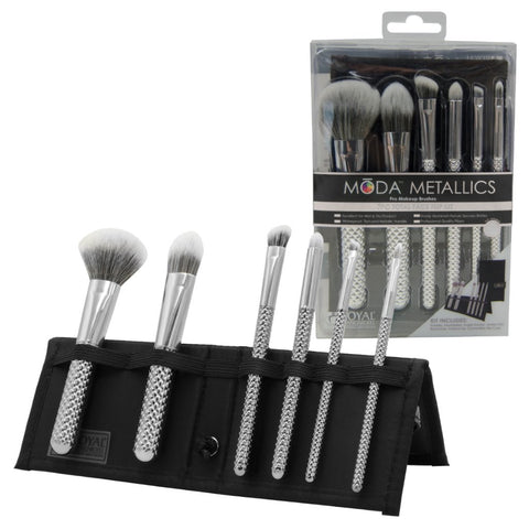 MSET-TF7SL - MŌDA® Metallics 7pc Silver Total Face Kit