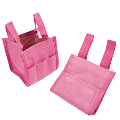 Pink Collapsible Water Bucket - open and collapsed