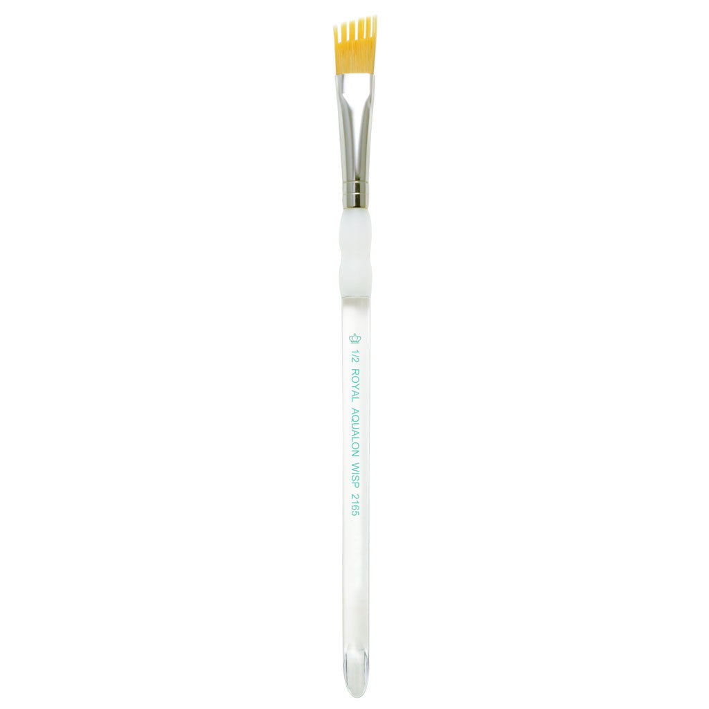 "Full view of Aqualon Angular Wisp™ Brush 1/2"" facing upward"