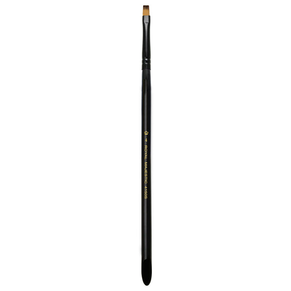 Majestic™ Flat S4 Full view of Majestic™ Flat Size 4 face art brush facing upward