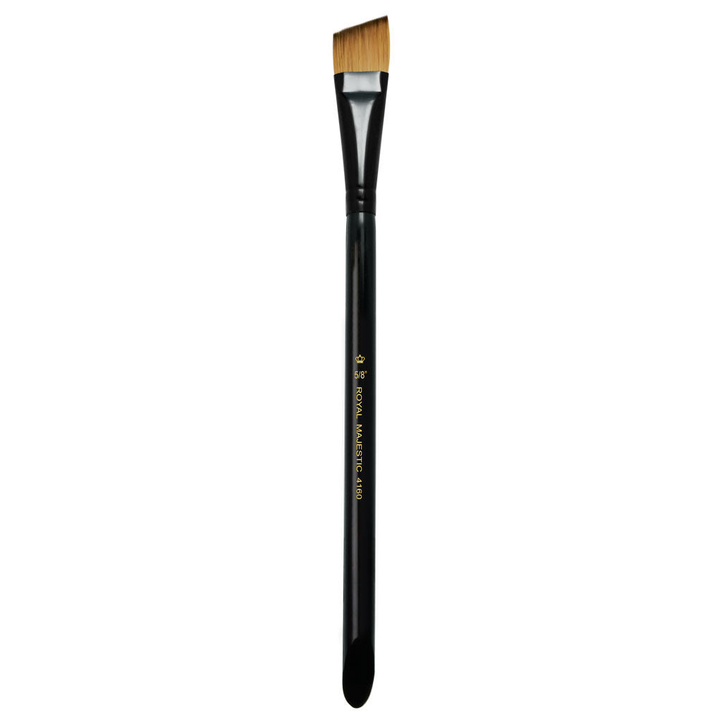 "Full view of Majestic™ Angular 5/8"" face art brush facing upward"