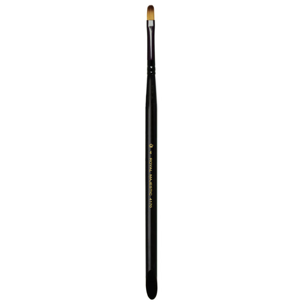 Majestic™ Filbert S4 Full view of Majestic™ Filbert Size 4 face art brush facing upward