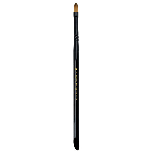 Majestic™ Filbert S6 Full view of Majestic™ Filbert Size 6 face art brush facing upward