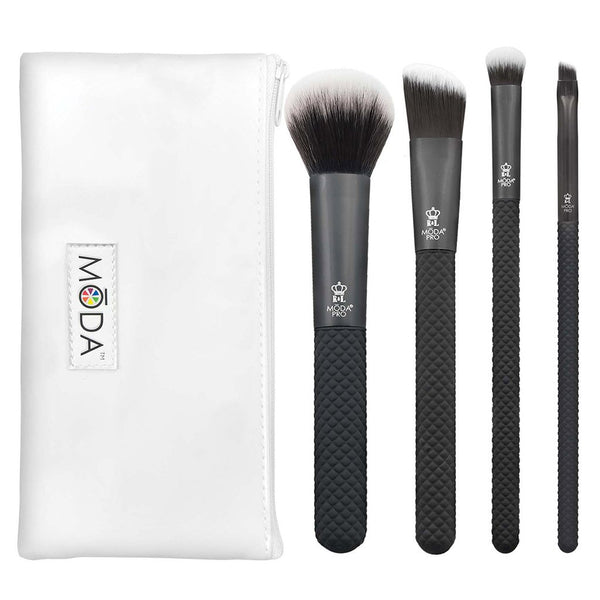 MŌDA® Pro 5pc Everyday Kit Makeup Brushes with Zip Case