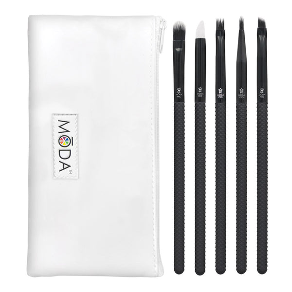 MŌDA® Pro 6pc Graphic Eye Kit Makeup Brushes with Zip Pouch