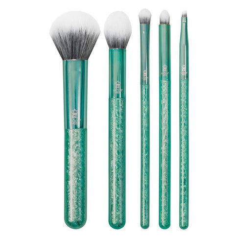 MSET-GC6 - MŌDA® Metallics 6pc Emerald Crackle Kit Makeup Brushes