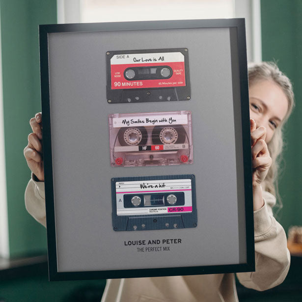 personalize your own mixtape tape collection poster
