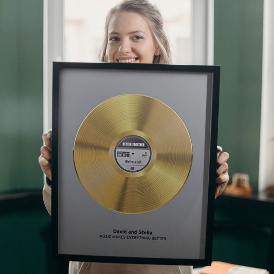 Personalized gold record poster