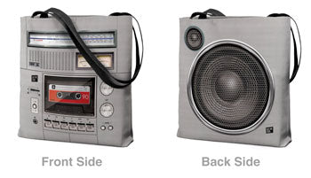 Boombox Tote Bag Both Sides View