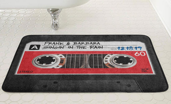 Bath Mat - Personalized - Cassette Tape