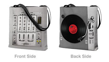 Dj Mixer and Turntable Tote Bag