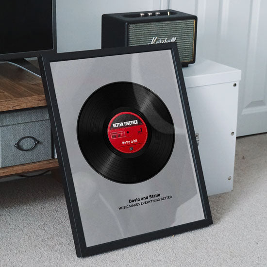 Personalized Record Vinyl Poster