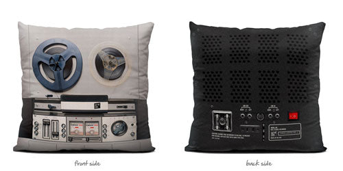 Reel to Reel Vintage Throw Pillow