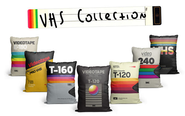 VHS Throw Pillow Collection