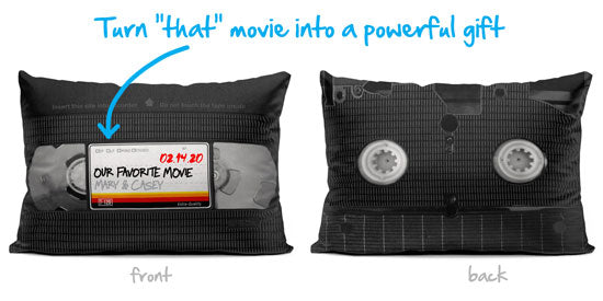 VHS tape - personalized pillow
