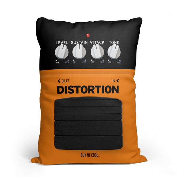 Pedal Distortion - Throw Pillow