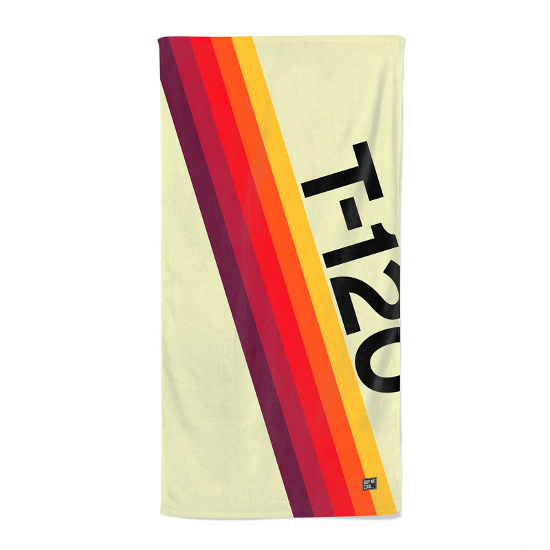 Abstract VHS Classic - Beach Towel
