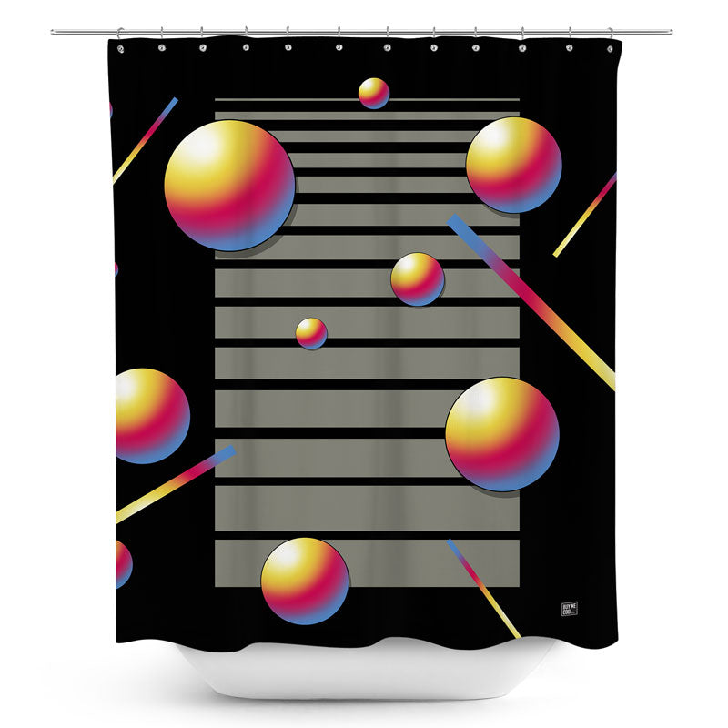 Abstract VHS Space - Shower Curtain